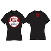 The Beatles I Love The Beatles Vintage Ladies Black T- Shirt (X-Large) Cover