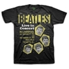The Beatles Live in Concert Mens Black Boxed T-Shirt (X-Large)