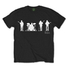 The Beatles Saville Row Line Up (White Silhouettes) (X-Large)