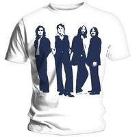 The Beatles Standing Mens White T-Shirt (XX-Large)