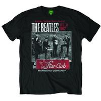 The Beatles Star Club Black Mens T-Shirt Size (X-Large)