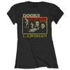 The Doors LA Woman Ladies Black T-Shirt (Large)