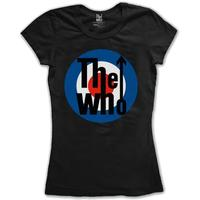 The Who Target Classic Black Ladies T-Shirt (Large)