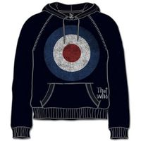 The Who Target Distressed Black Mens Hoodie (X-Large) - Cover