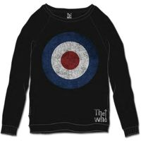 The Who Target Distressed Black Mens SweaT-Shirt (Large) - Cover