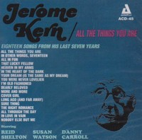 Jerome Kern - All the Things You Are: the Music of Jerome Kern (CD) - Cover