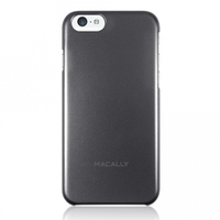 Macally AlumSnap Hard Shell Protective Cover for iPhone 6/6s - Metallic Black - Cover