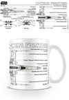Star Wars X-Wing Fighter Sketch Boxed Mug