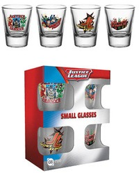 DC Comics - Justice League of America Characters Shot Glasses - Cover