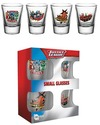 Justice League of America Characters Shot Glasses