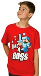Minecraft Like a Boss Youths T-Shirt (Small)