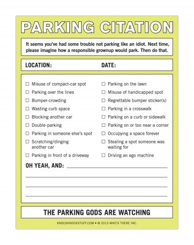 Parking citation whos there inc stationery books online raru parking citation whos there inc stationery cover ccuart Image collections