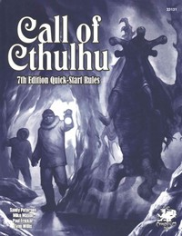 Call of Cthulhu RPG - 7th Edition Quick-Start Rules (Role Playing Game) - Cover