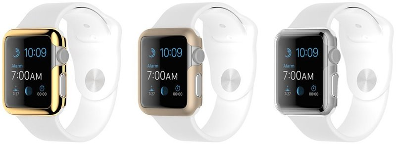new product 51128 2ca8a Griffin 3 Pack Ultra Thin Case for Apple Watch 38mm - Gold, Champagne &  Clear