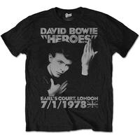 David Bowie Men's Tee: Heroes Earls Court (Medium)