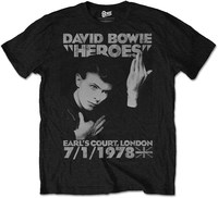David Bowie Men's Tee: Heroes Earls Court (Medium) - Cover