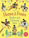 Horses & Ponies Sticker and Colouring Book - Fiona Patchett (Paperback)