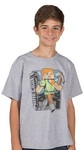 Minecraft Vintage Alex Youth T-Shirt (Small)