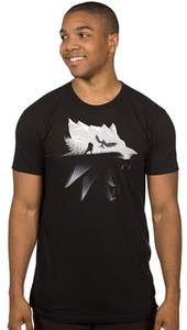 The Witcher 3 - Wolf Silhouette Premium T-Shirt (XXXX-Large) - Cover