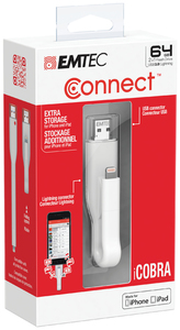 Emtec T500 iCobra Dual Lightning On the Go 2-in-1 USB 3.0 Flash Drive - 64GB - Cover