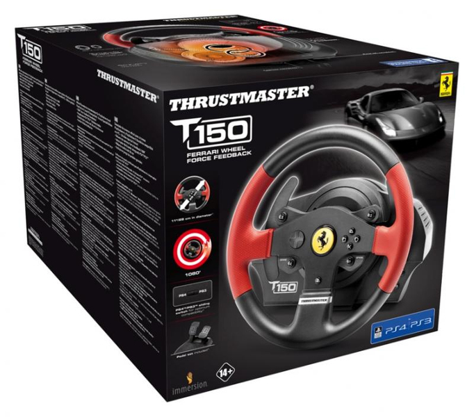 Thrustmaster - T150 Ferrari Wheel Force Feedback (PS4)