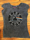 Pink Floyd Vintage Circle Logo Acid Wash Ladies T-Shirt (Large)