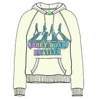 The Beatles Abbey Road Spray Ladies Natural Hoodie (X-Large) - Cover