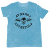 Avenged Sevenfold Classic Deathbat Flock Mens Blue T-Shirt (X-Large)