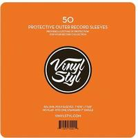 Vinyl Styl - 50 Pack Protective Outer 7 inch Record Sleeves (Protective Record Sleeves)