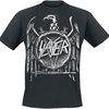 Slayer Hi Contrast Eagle Puff Print T-Shirt (Small)