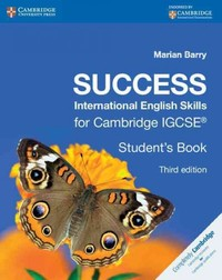 Success International English Skills For Cambridge Igcse (R) Student's Book - Marian Barry (Paperback) - Cover