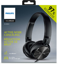 Philips Wired Active Noise Cancelling Headphones - Black (97%) - Cover