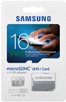 Samsung 16GB Pro Micro SDHC Memory Card with Adapter