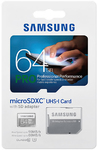 Samsung 64GB Pro Micro SDHC Memory Card with Adapter