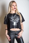 Alice Cooper Spider Splatter Glow Ink Boxy Ladies Tee (Medium)