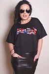 Judas Priest Union Glitter Print Boxy Tee (Small)