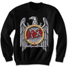 Slayer Silver Eagle Puff Print Black Sweat (Small)