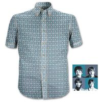The Beatles 1967 Heads Casual Shirt - Blue (Small) - Cover