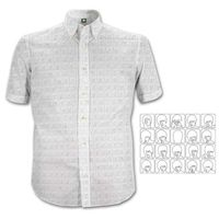 The Beatles Hard Day's Night Pattern White S/Sleeve Casual Shirt (XX-Large) - Cover
