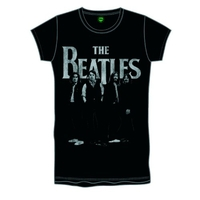 The Beatles Iconic & Logo Boys Black T-Shirt (Small) - Cover