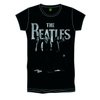 The Beatles Iconic & Logo Boys Black T-Shirt (X-Large)