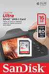 Sandisk Ultra SDHC Class 10 UHS-I - 16GB (80MB/s)