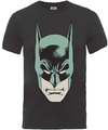 Batman Head Large Mens Charcoal T-Shirt (X-Large) Cover