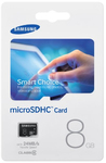 Samsung 8GB Standard Micro SDHC Micro SD Memory Cards - Card Only (Class 6)