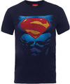 DC Superman Pectacular Logo Mens Logo Black Mens T-Shirt (X-Large)