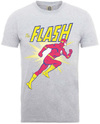 Flash Running Mens Heather Grey T-Shirt (Small) Cover