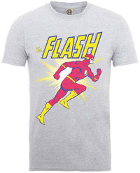 Flash Running Mens Heather Grey T-Shirt (X-Large) - Cover