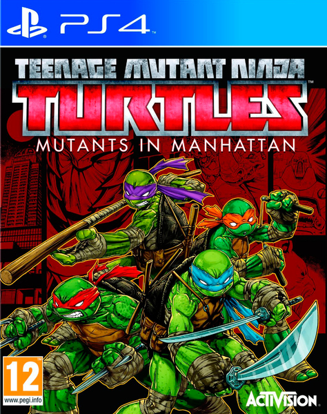 Kết quả hình ảnh cho Teenage Mutant Ninja Turtles Mutants in Manhattan cover ps4