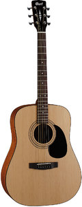 Cort AD810 OP Standard Series Dreadnought Acoustic Guitar (Open Pore Natural) - Cover