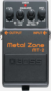 Boss MT-2 Metal Zone Guitar Distortion Pedal - Cover